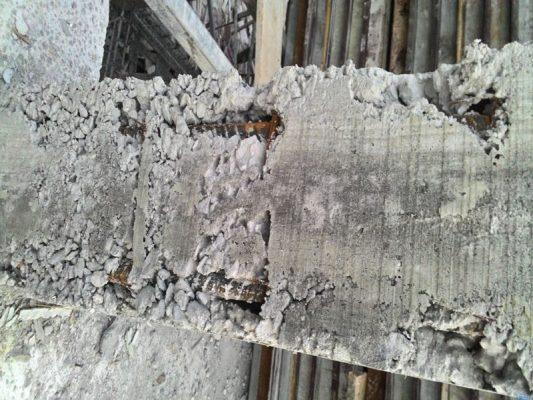 Sửa chữa bề mặt bê tông rỗ tổ ong