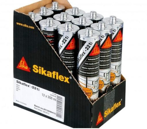 Sikaflex 221 được đóng gói thùng 12 tuýp