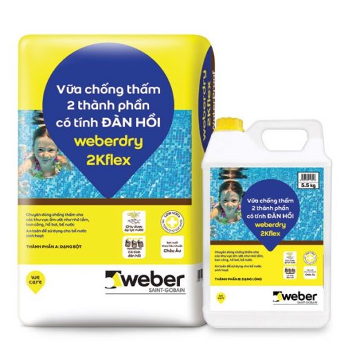 Vữa chống thấm Weber.dry 2kflex