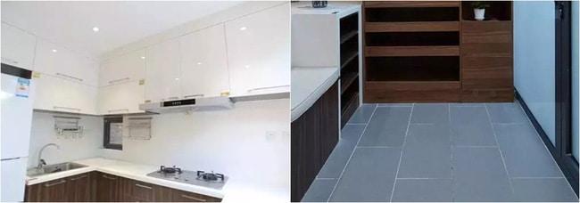 Phòng bếp ngăn nắp, rộng rãi nhờ khéo sử dụng màu trắng