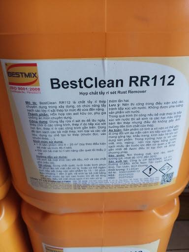 Bestclean Rr112 Chất Tẩy Rỉ Thép Chuyên Dụng Trong Xây Dựng